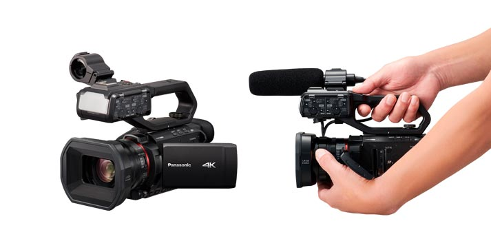 Vista de la nueva cámara 4K de Panasonic, la AG-CX10