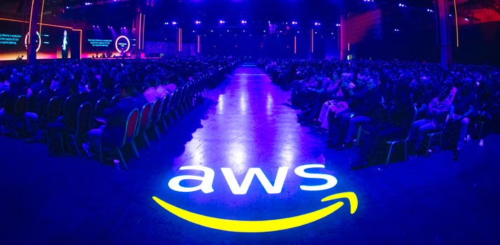 Asistentes al evento re:Invent de Amazon Web Services AWS 2019
