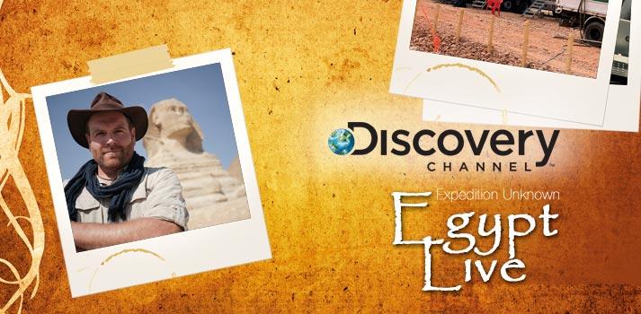 Apertura del artículo Expedition Unknown Egypt Live de Discovery Channel en TM Broadcast