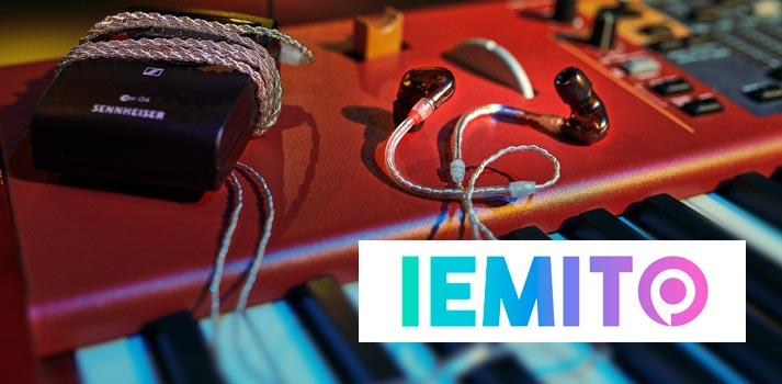El IE 500 PRO de Sennheiser junto al logotipo de Iemito