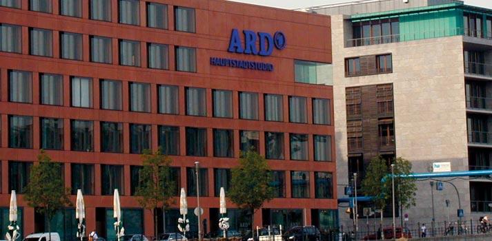 Exterior de uno de los centros de producción de la corporación pública alemana ARD