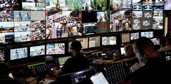 Sala de control ubicada en uno de los centros de producción de ARD