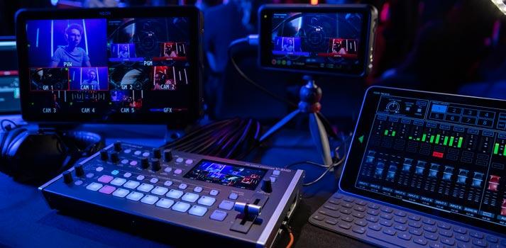 Dispositivos de grabación Atomos junto con el switcher V-8HD HD de Roland