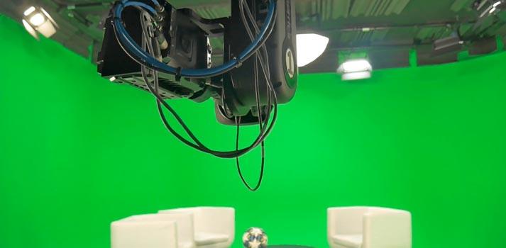 Pantalla verde y sistema de captación preparado para la recreación de espacios virtuales por WTVision