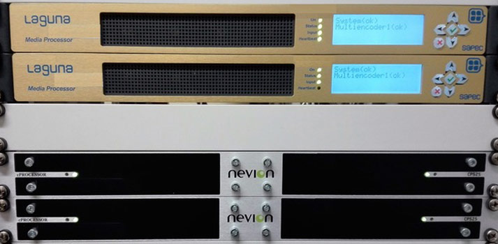 Unidades de rack de Sapec y Nevion implementadas en RTVE