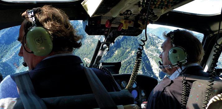 Escena aérea grabada por Bitis Documentales