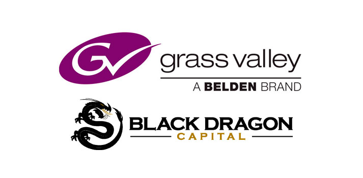 Logotipos de Grass Valley y Black Dragon Capital