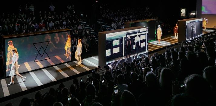 Mercedes Benz Fashion Week Madrid desfile 5G Samsung
