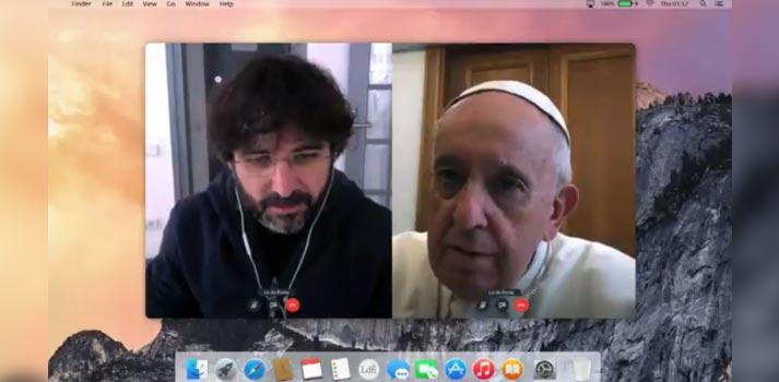 Entrevista de Jordi Evole al Papa Francisco vía Skype