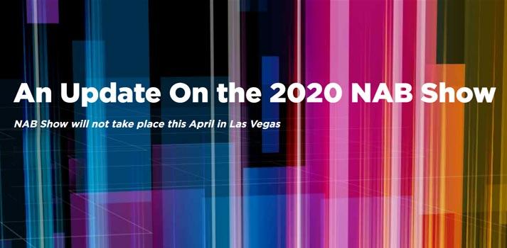 NAB Show 2020 se aplaza. Imagen oficial