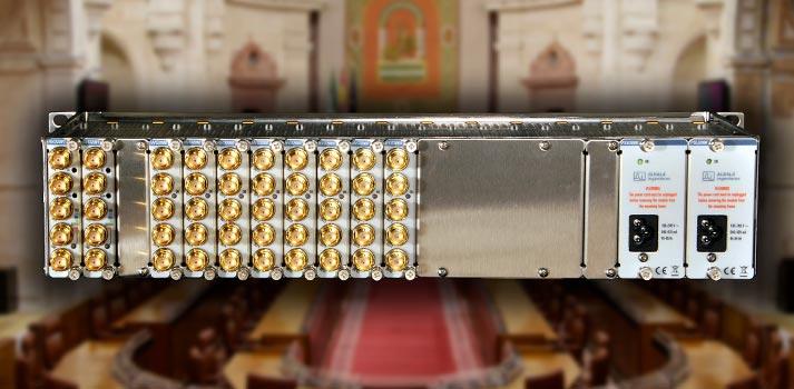 Ejemplo del equipamiento que Albalá Ingenieros ha instalado en el Parlamento de Andalucía