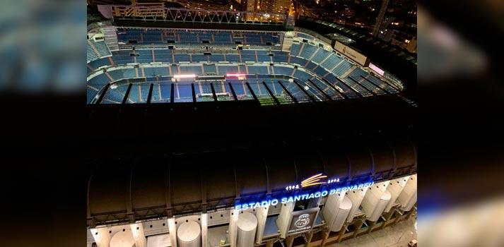 Vista aérea del estadio Santiago Bernabéu
