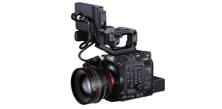 Vista en perspectiva de la nueva Canon C3000 Mark III
