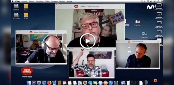 conexión webcam casera Ilustres Ignorantes