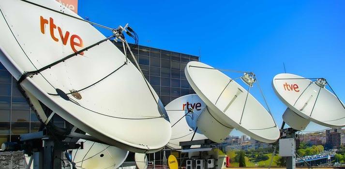 Instalaciones y equipos satelitales de RTVE. Foto: Raúl Tejedor