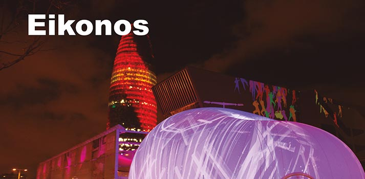 Instalación audiovisual en Barcelona implementada por Eikonos