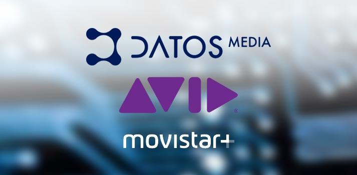 Logitipos de Datos Media Avid y Movistar+