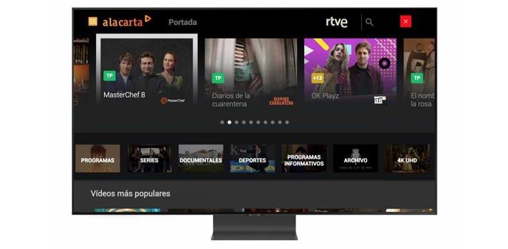 Renovada interfaz de usuario de RTVE A La Carta para las televisiones de Samsung Smart TV