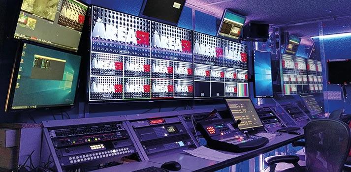 Una de las salas de control del Grupo Área 51