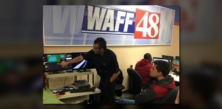 Una de las soluciones de JVC instalada en la redacción de WAFF-TV