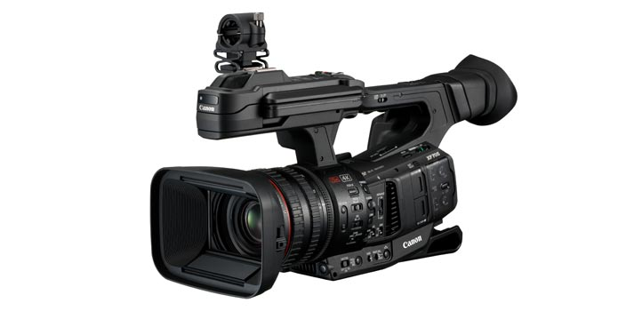 Vista en perspectiva de la Canon XF705
