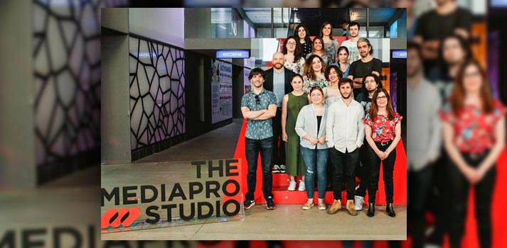 Alumnos del Máster de guion 2019 de la Universidad Complutense de Madrid y The Mediapro Studio