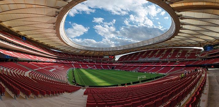 Imagen panorámica del estadio Wanda Metropolitano de Madrid