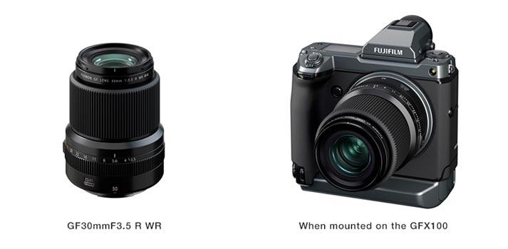 Sistema FUJINON de Fujifilm con la nueva lente GF30mmF3.5 R WR