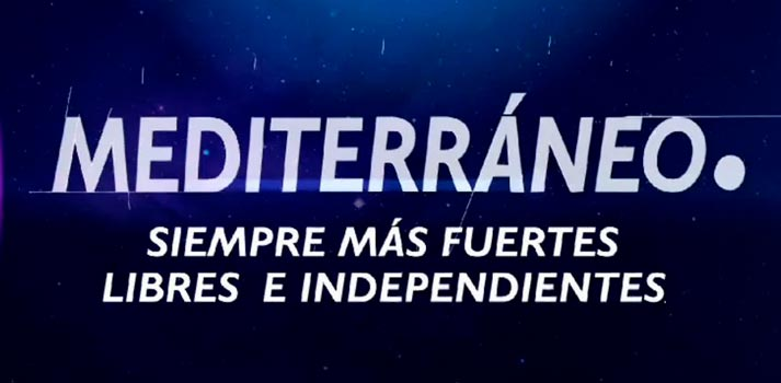 Logotipo de Mediterráneo, una empresa del grupo Mediaset