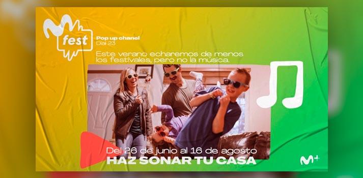 Imagen promocional de Movistar Fest, canal pop up de Movistar+
