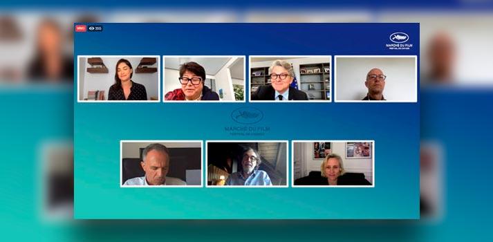 Captura del encuentro europeo Marche du Film con la participación de Mediapro