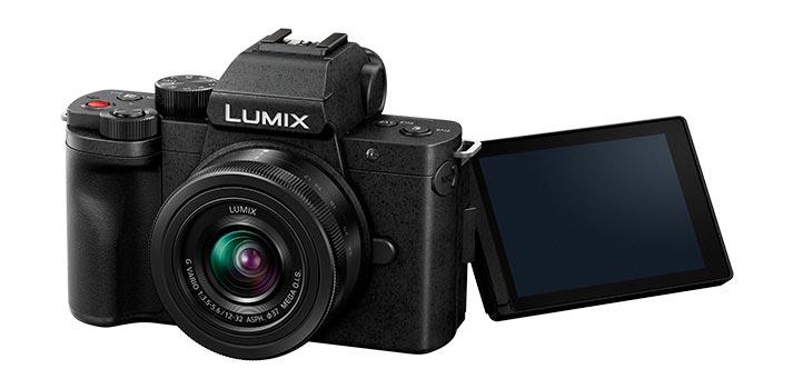 Vista frontal de la cámara Lumix G100