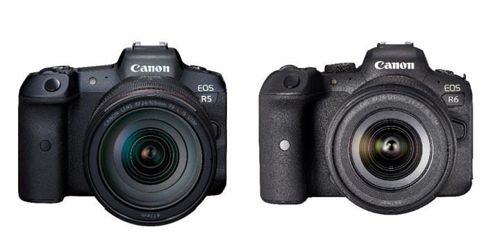 Cuerpo de las cámaras Canon EOS R5 y R6