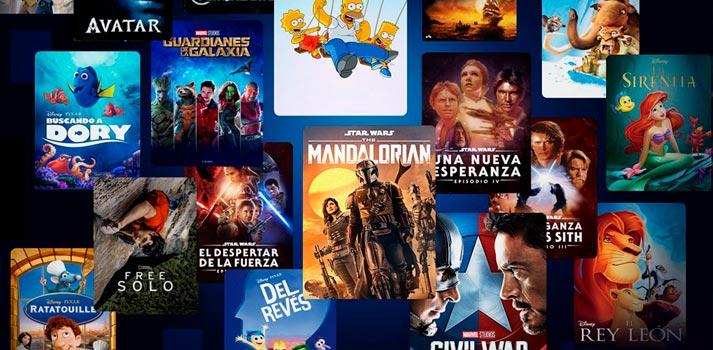 Selección de contenido del catálogo de Disney+