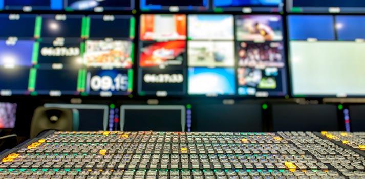 Sala de control de SES - BBC Studios